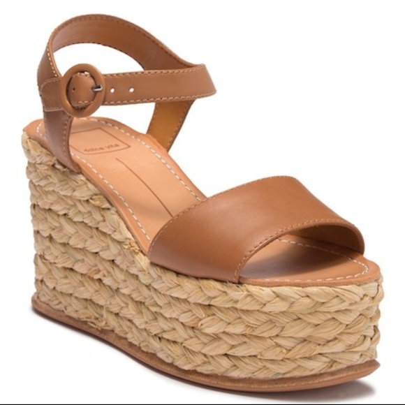 80be8250721 Caramel Leather Dolce Vita Espadrille Wedge Sandal